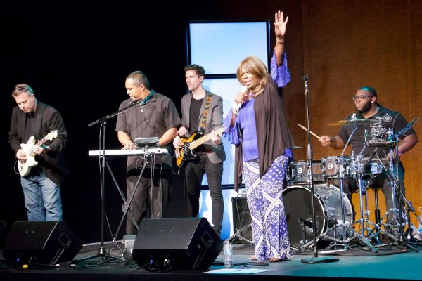 The band, led by Leon McCrary, expertly provided an opportunity to worship