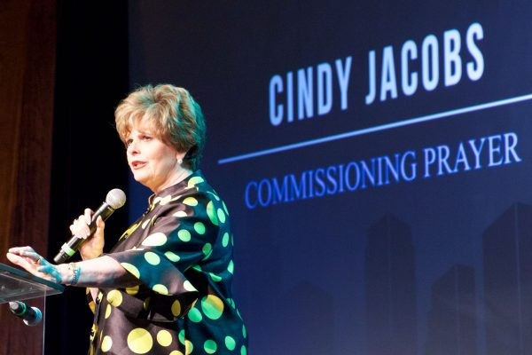Cindy Jacobs, Prophet, Speaker, Teacher, Author, Co-Founder of Generals Intl. & Reformation Prayer Network, led the closing prayer