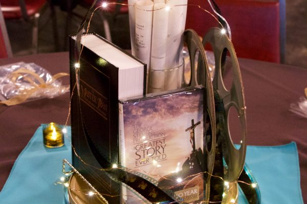 Centerpieces exemplified the theme of storytelling and were designed by HPN staff Kim Roberts