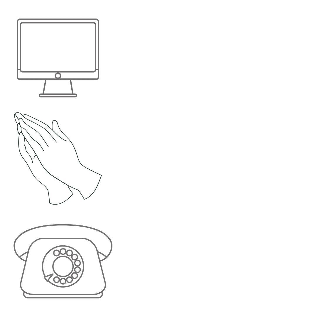 Computer prayer hands phone