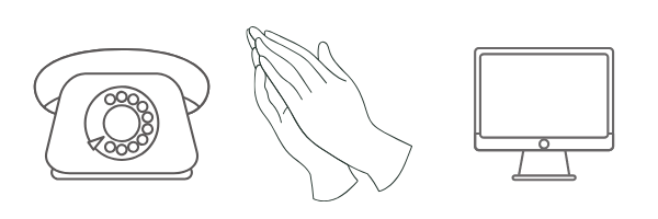 phone prayer hands computer