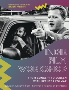 Indie Film Workshop from concept to screen
