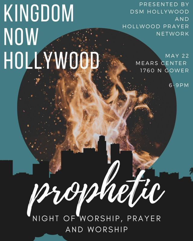 We are excited to offer an in-person special event; a Prophetic Night of Worship, Prayer, and Teaching for all of our industry professionals!  @dsmhollywood is a prophetic ministry to the entertainment industry, and they have partnered with us to bring you a night of ministry to encourage you in your industry calling, build your faith, and have you receive prophetic prayer 🙏🏽   RSVP at the @dsmhollywood LINK IN BIO, bring a friend (or 3) and come worship with us!  . . . . . . . . . . . . . #worship #worshipnight #worshipnights #hollywoodministry #hollywoodworshipnight #losangeles #hollywood #prayer #entertainmentministry #propheticworship #propheticprayer