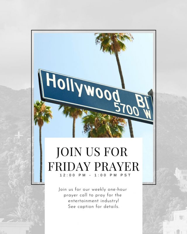 📢 FRIDAY PRAYER CALL!   🎬 Join us tomorrow for our weekly International Friday Prayer Call!   📧 Click the link in the Bio to receive Zoom link!  🙏🏼 Tag your favorite celebrity below!  Let's pray for them! 🕊