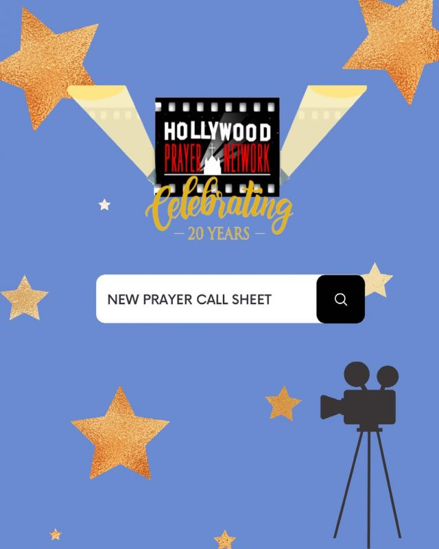 🎦 NEW CALL SHEET 📝  🎬 Join us in praying for entertainment industry! Click the link in the bio for the latest call sheet!   🙏 We encourage you to leave your prayer request below! Let's pray for one another. 🤝