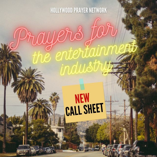 Pray in faith with us 🙏🏽 LINK IN BIO  We have a new CALL SHEET with praises, updates, and prayer request for the entertainment industry! Unite with us in prayer, and BELIEVE that your prayers WILL usher in God's will for REVIVAL in Hollywood! Do you believe that prayers are powerful? We know that when you partner in prayer with us for everyone in Media, Arts, and Entertainment - we will see miracles, breakthrough, and bondages break off of Hollywood!