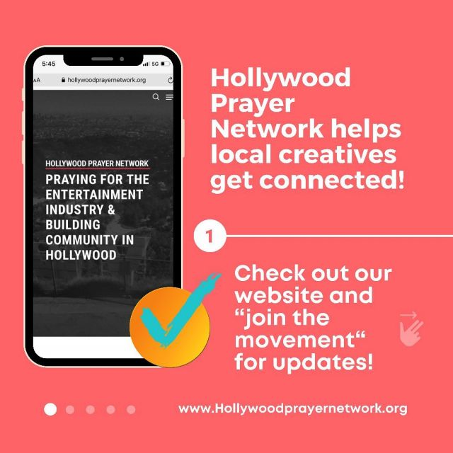 We are connecting local creatives, professionals, and the media, arts, and entertainment communities in Hollywood!  We provide prayer, community, and events for Christians who live in LA, and want to navigate being a believer in Hollywood!   And it doesn't stop there- God is doing BIG THINGS in Hollywood, and we are ready to see a REVIVAL in local culture.   Our mission is to spread this powerful message: Don't just create - Don't just consume- get connected, receive prayer, be a Kingdom visionary, and PRAY FOR HOLLYWOOD.