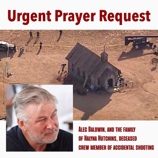 """Let's keep the families of Alec Baldwin, Halyna Hutchins, Director of Photography, movie director Joel Souza in our prayers after Alec Baldwin discharged prop firearm on movie set.   CNN reports: Alec Baldwin has made his first public statement since a fatal shooting on the set of his new film on Thursday.  """"There are no words to convey my shock and sadness regarding the tragic accident that took the life of Halyna Hutchins, a wife, mother and deeply admired colleague of ours,"""" Baldwin tweeted on Friday. """"I'm fully cooperating with the police investigation to address how this tragedy occurred and I am in touch with her husband, offering my support to him and his family. My heart is broken for her husband, their son, and all who knew and loved Halyna.""""  @cnn   We are so sorry for the loss of Halyna, a brilliant creative and a """"light"""" according to those who knew her. We can't imagine the shock and heartache of losing a wife, mother, and all around beautiful human being! We are also praying for Alec, that his grief would be a road to embracing the healing and redeeming power of Jesus Christ. An incident like this should never happen, and we are praying for the workers and cast who witnessed the tragedy and are fighting for the work conditions and safety of so many.   #alecbaldwin #pray"""